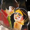 Amitabh Bachchan & Rekha in film \'Muqaddar Ka Sikander\' (Ruler of His Own Destiny). At Kankaria Lake, Ahmedabad.