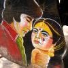 Amitabh Bachchan & Rekha in film \'Muqaddar Ka Sikander\' (Ruler of His Own Destiny). At Kankaria Lake, Ahmedabad.