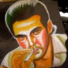 Arjun Rampal [Painted Bollywood Rickshaw Mudflap] at Paldi Char Rasta.