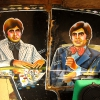 Interior: Amitabh Bachchan. They were being refitted to a new rickshaw at the hub of rickshaw customisation at Kankaria Lake.