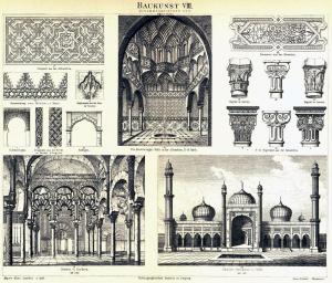 Baukunt VIII. Mohammedanischer Stil. Beginn im VII. Jahrh.